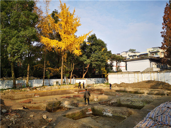 三苏祠考古开放日揭开新出土文物