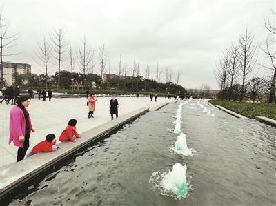 岷江新区城市中央公园向市民开放