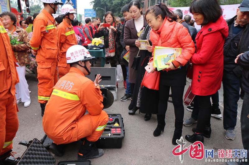 经开区消防中队到辖区开展消防知识宣传活动