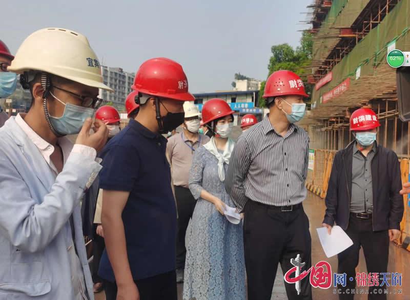 宜宾市政协领导调研翠屏区大气污染防治工作