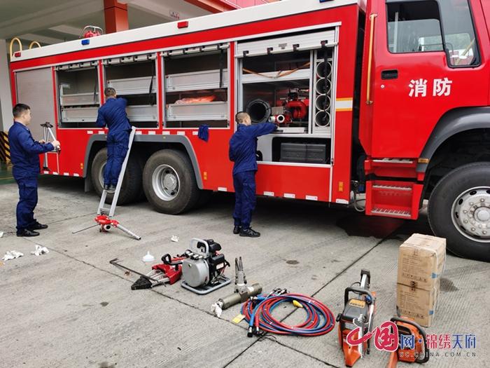射洪消防积极开展车辆器材装备大检查活动