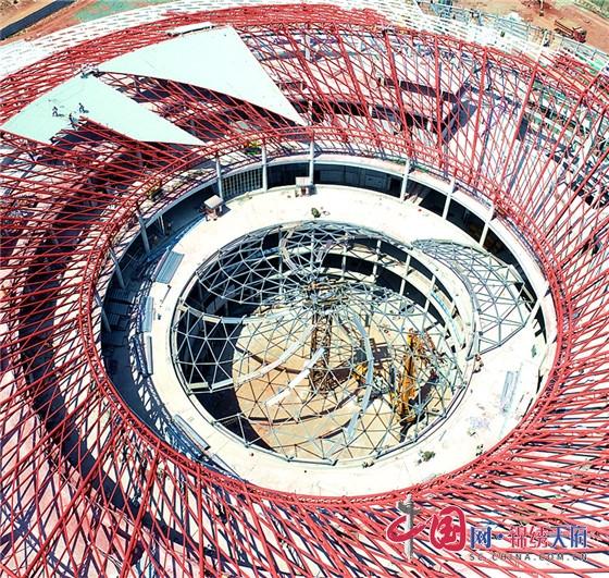 淮州新城国际会展城项目加速推进 会展中心初装修工作进程过半