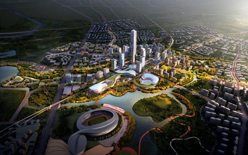 """成都东部新区首个TOD综合开发项目火热施工 揭秘""""空港中央创新区""""营城新模式"""