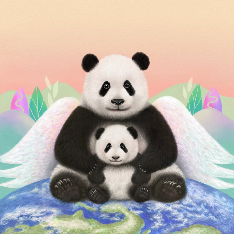 How panda art is telling the story of the world's war against COVID-19
