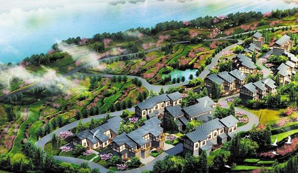 成都金堂县观音湖产业新村开建 产业+生态打造田园旅游胜地