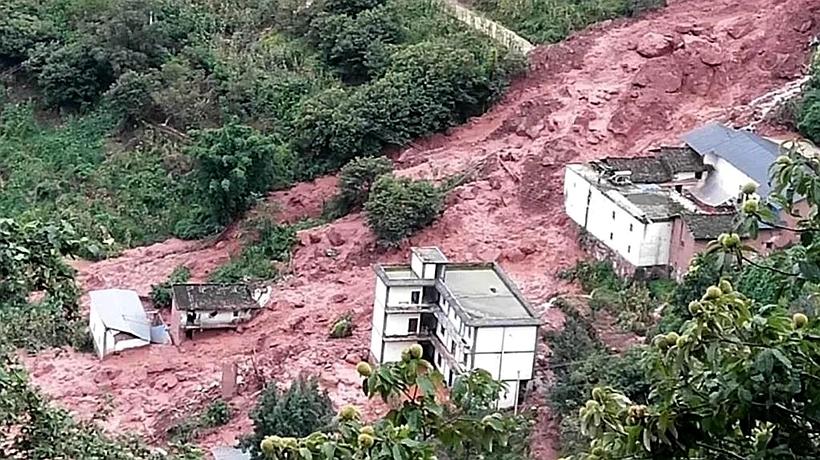 凉山降雨诱发两处地质灾害,93人提前转移无伤亡