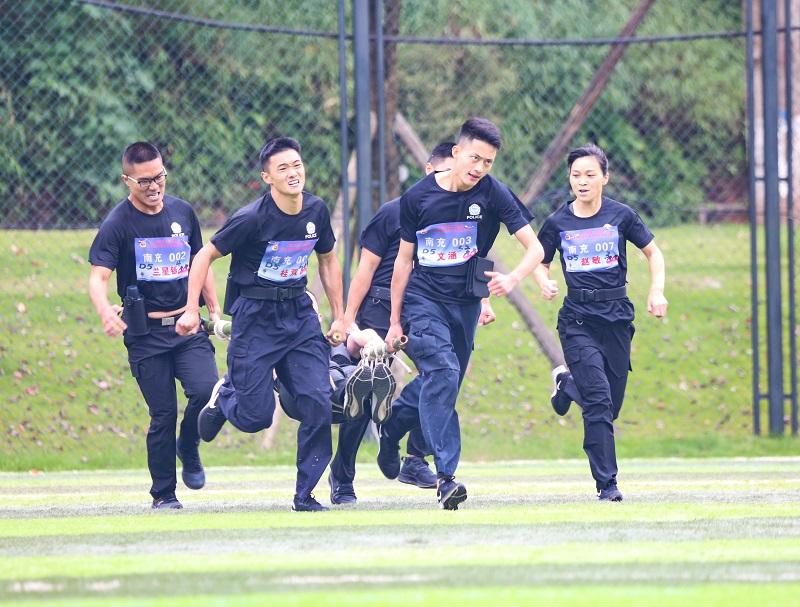 四川省第二届警察野外应急救援比赛在乐山开赛