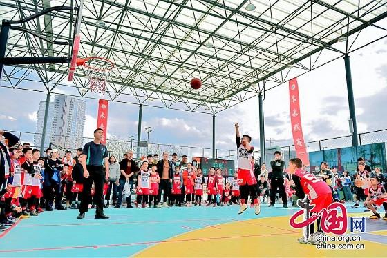 """成都市天府新区举行""""未来联赛"""" 300余名篮球小队员角逐MVP"""