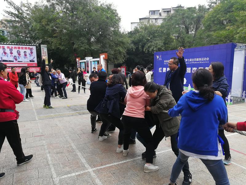 """红牌楼街道组织开展""""爱成都·迎大运""""武侯区第七届全民健身拔河比赛活动"""