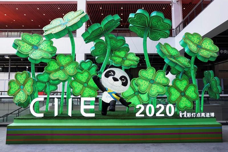 Zigong Lanterns light up China International Import Expo