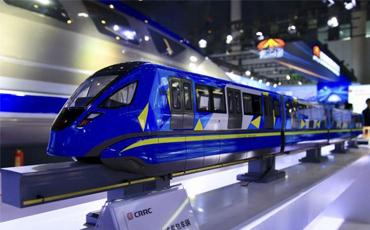 World's first 160 km/h monorail maglev train makes its debut in Chengdu (13)