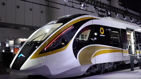 China's CRRC unveils Sanxingdui-themed self-driving train