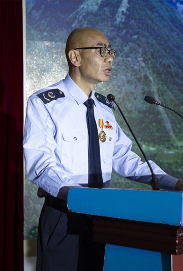 陈旺在水电五局宣讲
