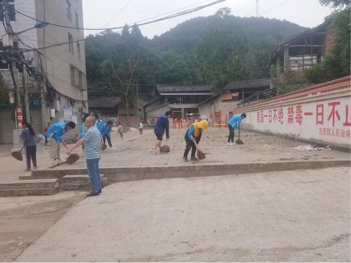 射洪市涪西镇:学史力行践初心 清洁社区办实事