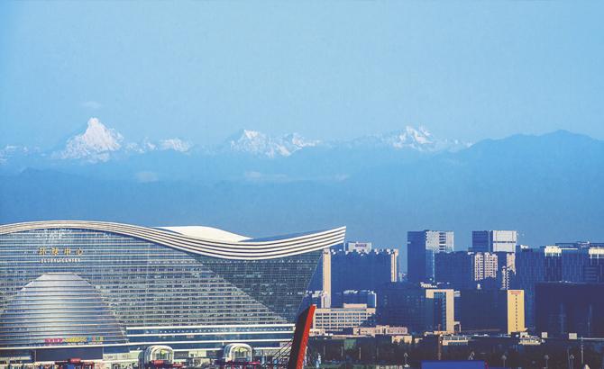 錦城藍:天地間不斷鋪展的公園城市錦繡畫卷