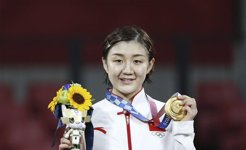 乒乓球女单:陈梦夺冠