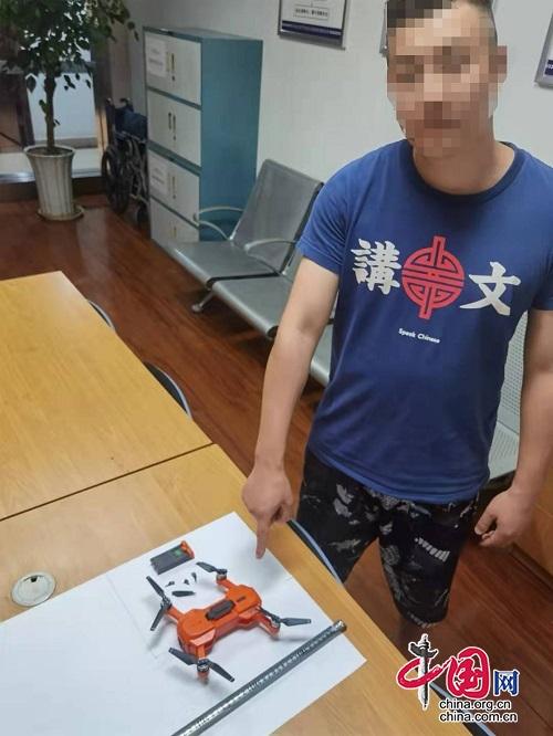 四川省公安厅机场公安局查处全省首例微型无人机扰乱单位秩序案