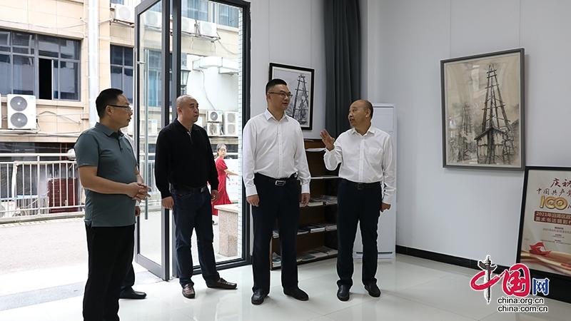 自贡沿滩:刘军调研区政协卫坪片区工作委员会