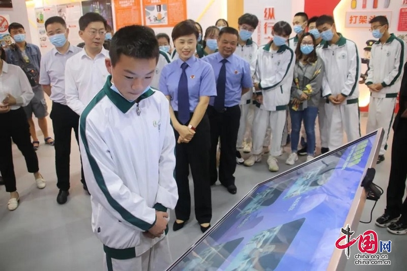 四川青川县青少年法治教育基地建成开馆