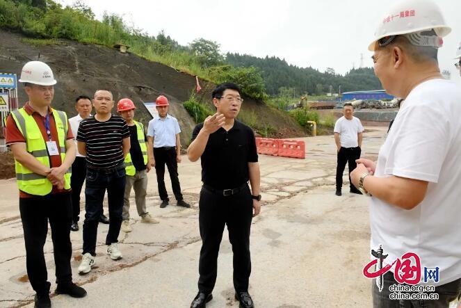 嘉陵区委副书记、区长张青松到一线调度重大产业项目推进情况