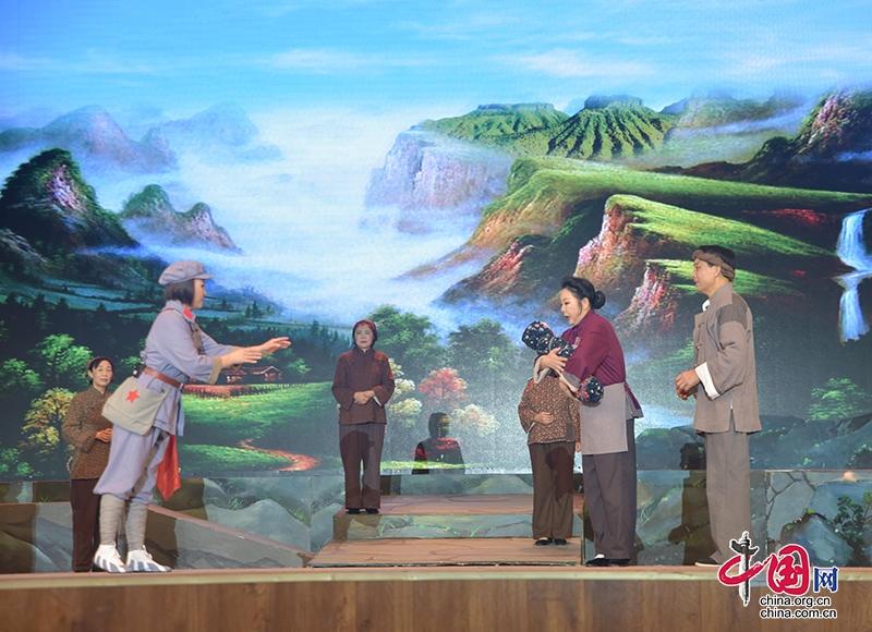 大型红色题材豫剧《烽火情缘》在青川上演