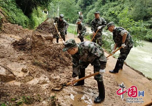 大暴雨致旺苍境内省道多处阻断 部分道路已抢通