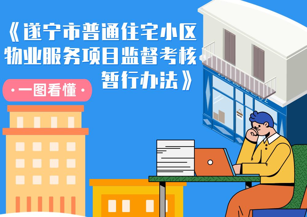 一图看懂《遂宁市普通住宅小区物业服务项目监督考核暂行办法》
