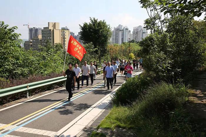 """遂宁市林业局开展低碳出行暨""""互联网+全民义务植树""""活动"""