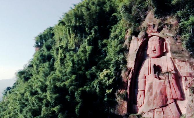 探访宜宾市屏山县八仙山:丹霞洞三教共顶 世界第一立佛身世成谜